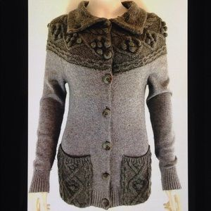 Sleeping on Snow Anthropologie Cable Knit Cardigan